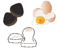シジミ・卵・餅