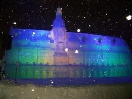 札幌雪まつりライトアップ